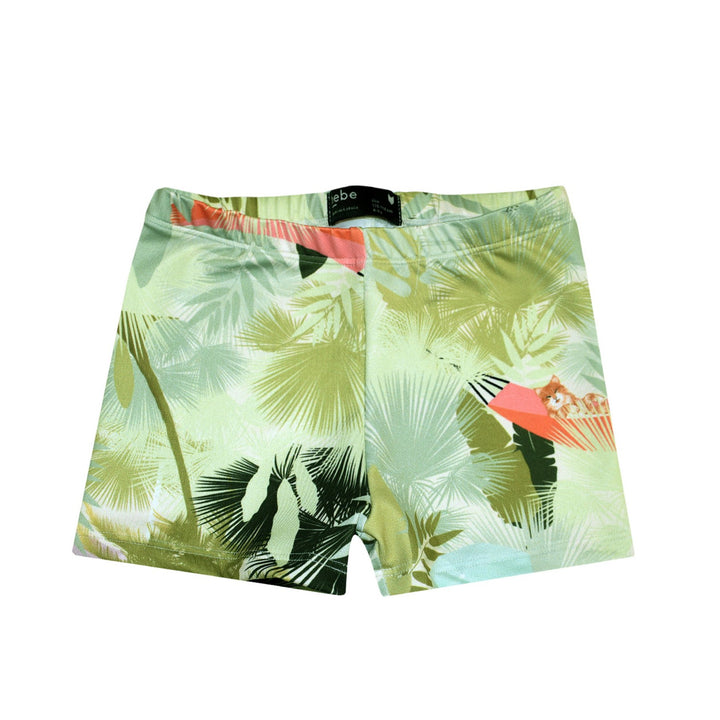 Hebe Palm Print Boys Swim Trunks