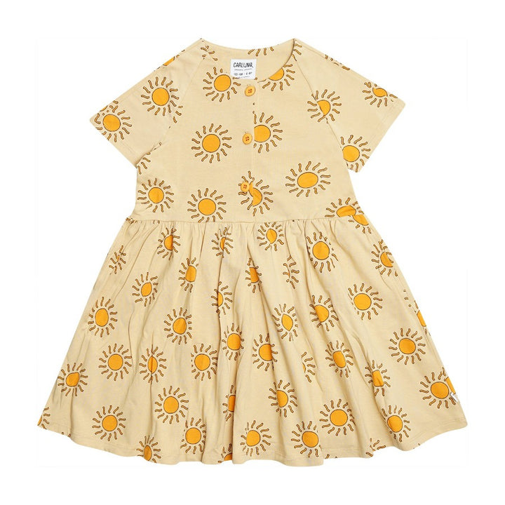 Sunshine Print Organic Cotton Summer Dress
