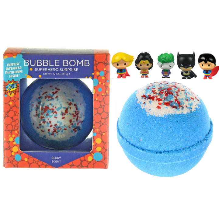 Superhero Surprise Bath Bombs for Kids (blue)
