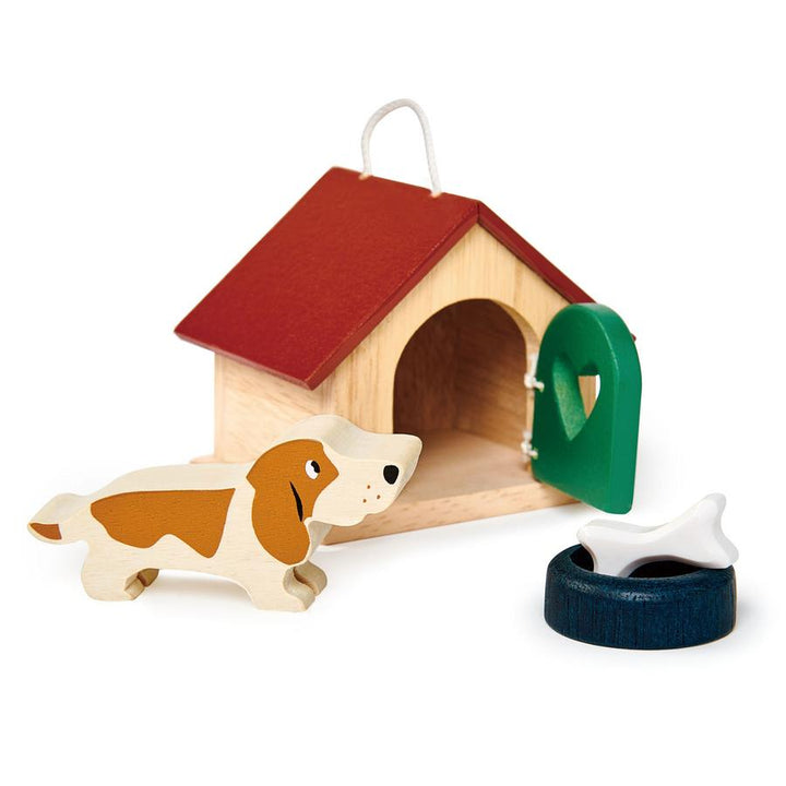 Pet Dog with Doghouse Set - 1:12 Dollhouse Scale