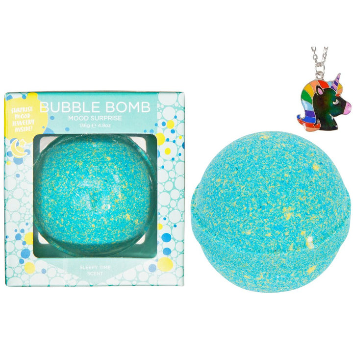 Unicorn Mood Necklace Kids Bath Bomb (aqua)