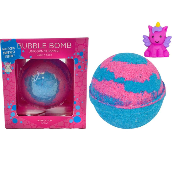 Unicorn Squishy Toy Bath Bomb (blue/pink)