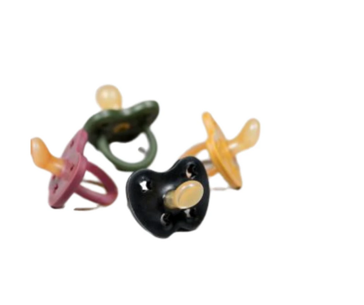 Hevea Natural Rubber Pacifier Asymmetrical (assorted/colors)