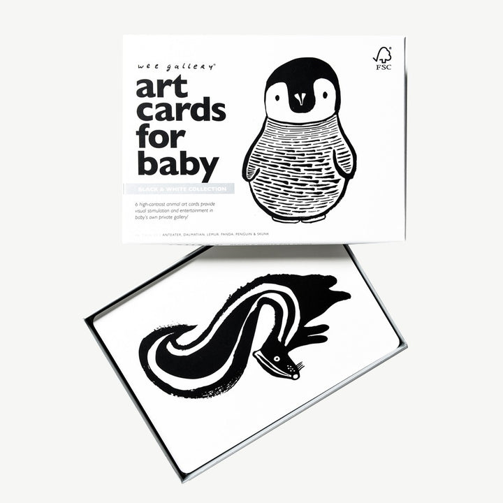 Wee Gallery Art Cards For Baby - Black and White Collection