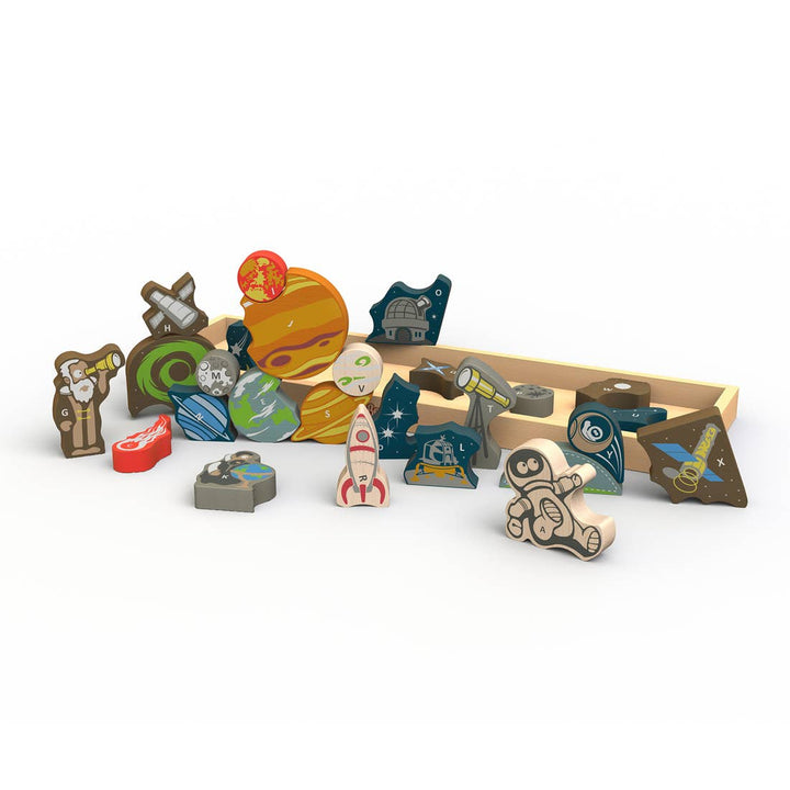 Space A-Z Puzzle Playset