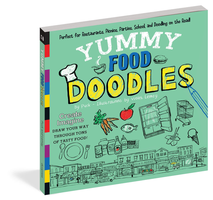Yummy Food Doodles Drawing Book