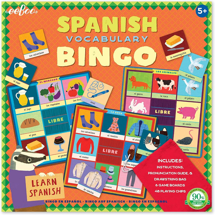 Spanish Bingo Game