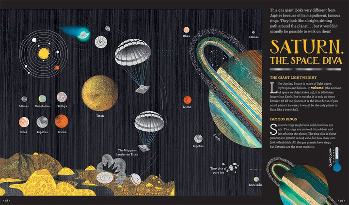 Solar System Book for Kids 8+, Glow in the Dark - sample page