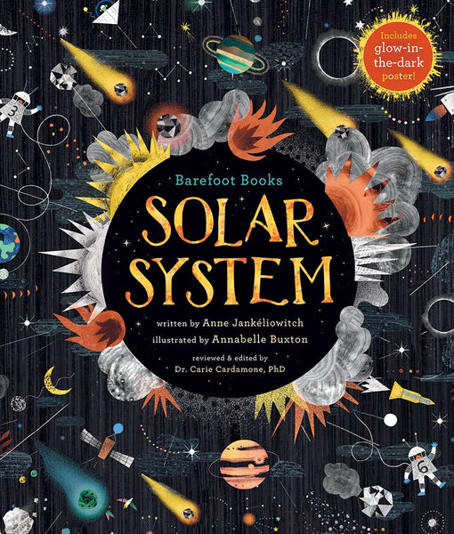 Solar System Book for Kids 8+, Glow in the Dark - front cover