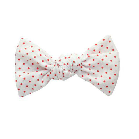 Handmade Baby Single Bow Headband (red dot)