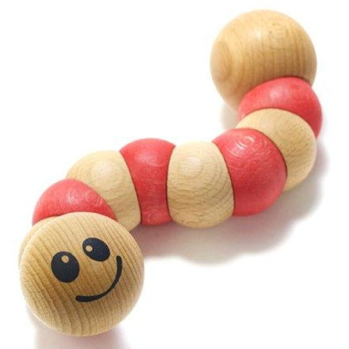 Begin Again Infant Toy Earthworm - Red