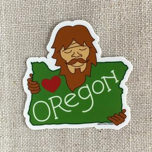 Bigfoot Loves Oregon Sticker