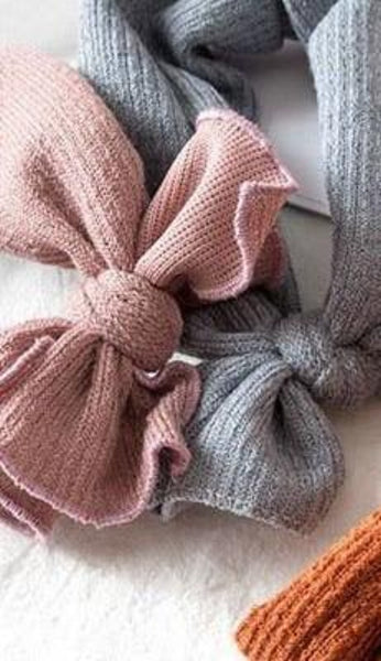 Handmade Baby Knot Dotted Head Wrap (rose)