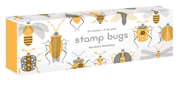 Stamp Bugs - 25 Bug Stamps with 2 Ink Pads