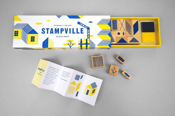 Stampville - 25 Stamps with 2 Ink Pads