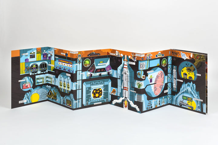 Stickyscapes Superheroes Activity Book