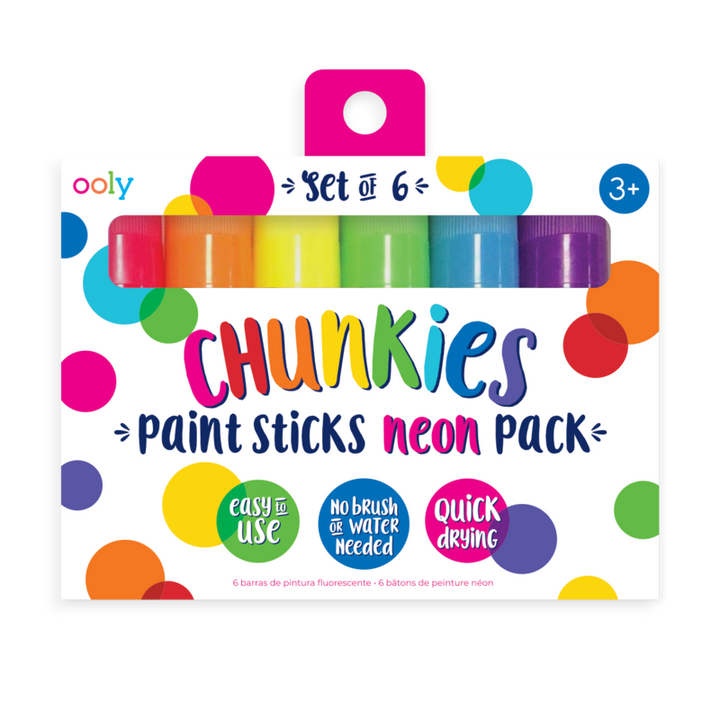 Chunky Neon Paint Sticks for 3 and Up