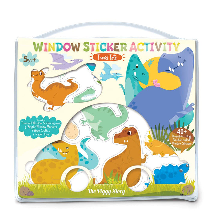 Window Sticker Activity - Dinosaur World