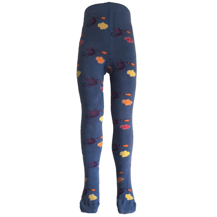 Dragon Print Tights for Kids