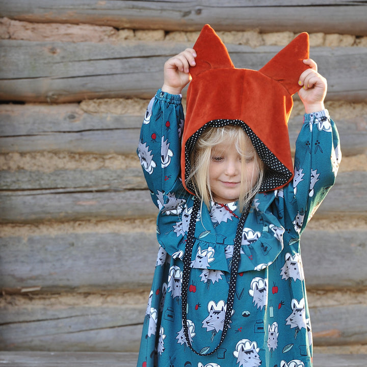 Kids Organic Cotton Fox Hat