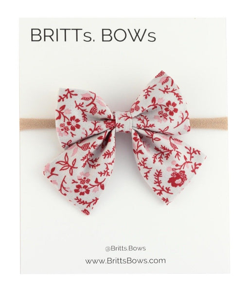 Britts Bows Floral Sailor Headband Bow (purple)