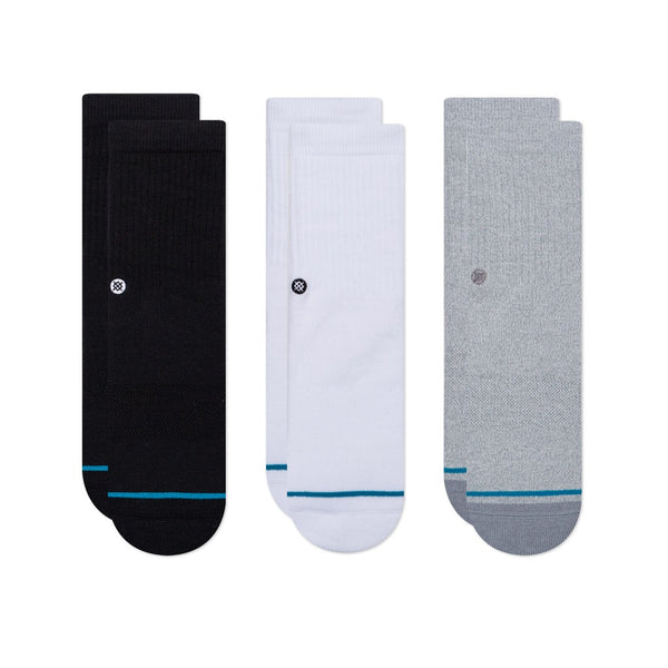 Stance 3 pack - black/grey/white