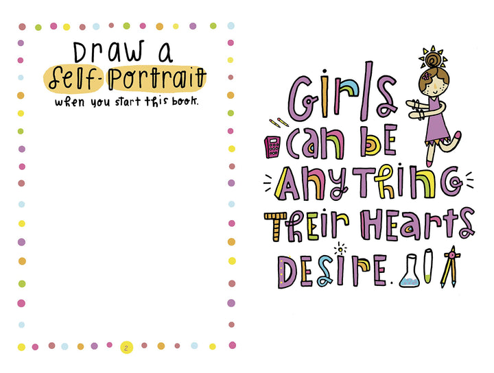 Girls (8-12) activity book for self-growth and expression