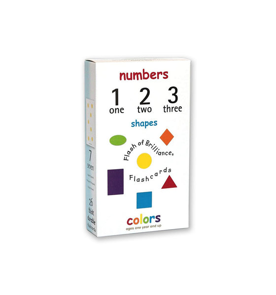 Flash of Brilliance Numbers, Shapes, & Colors Flash Cards