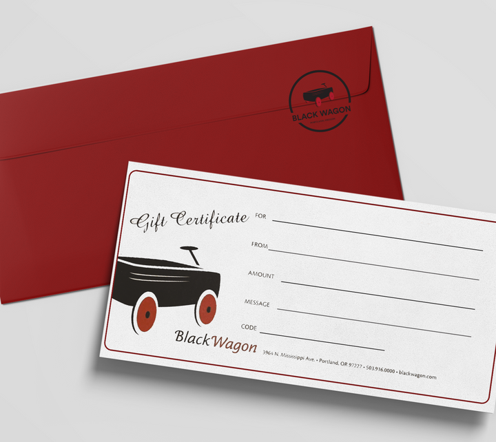 Can't decide?  Get a Black Wagon Gift Certificate