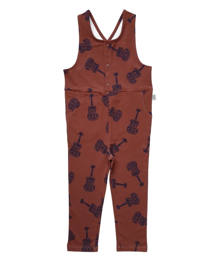 Guitar print overalls for toddlers