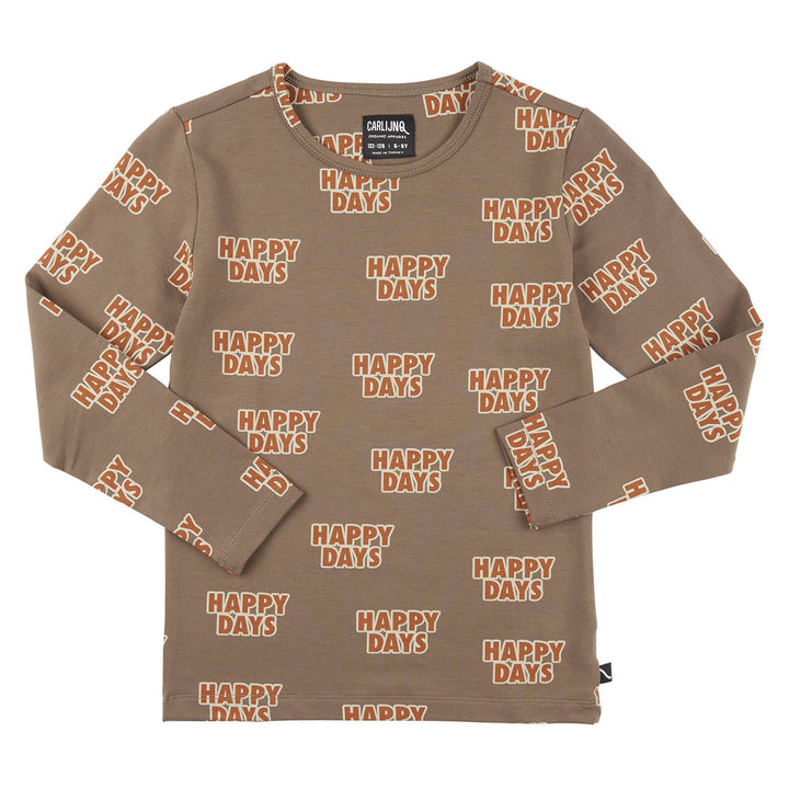 CarlijnQ Happy Days Shirt (beige)