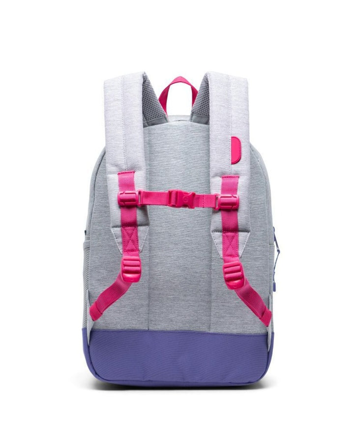 Herschel kids backpack - Grey & Raspberry - back