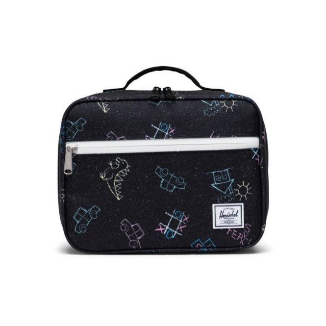 Herschel Kids Lunch Box with Chalk Doodle Design