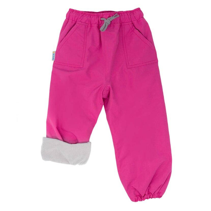 Fleece Lined Waterproof Rain & Snow Pant (hot pink)