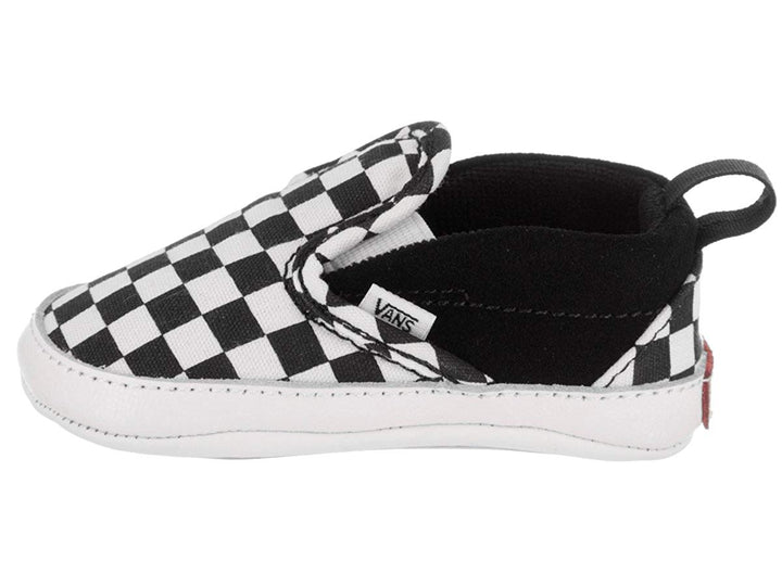 Vans V Crib Slip-On Checkered Infant shoes (black/white)