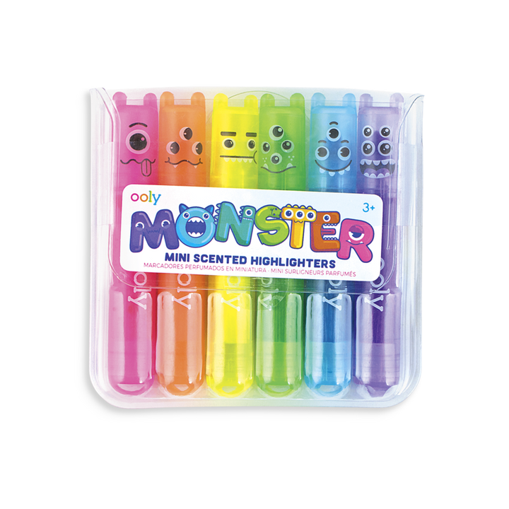 OOLY Monsters Mini Scented Neon Highlighter
