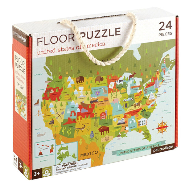 Petit Collage USA Floor Puzzle