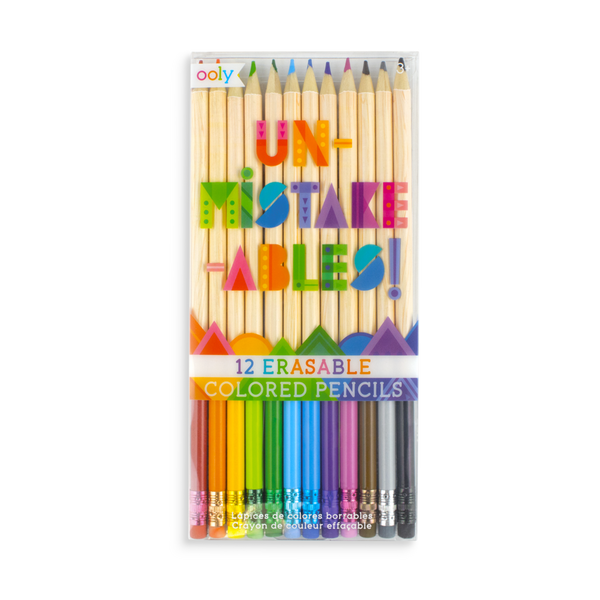 Ooly Un-Mistake-Ables! Erasable Colored Pencils (set of 12)