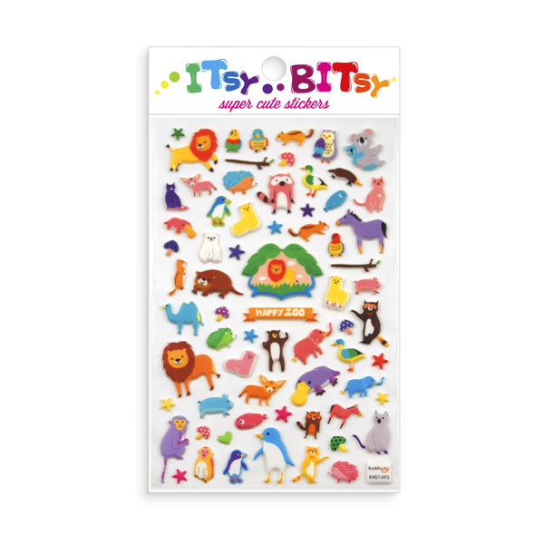 OOLY Itsy Bitsy: Happy Zoo Stickers