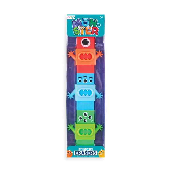 OOLY Monster Erasers (set of 3)