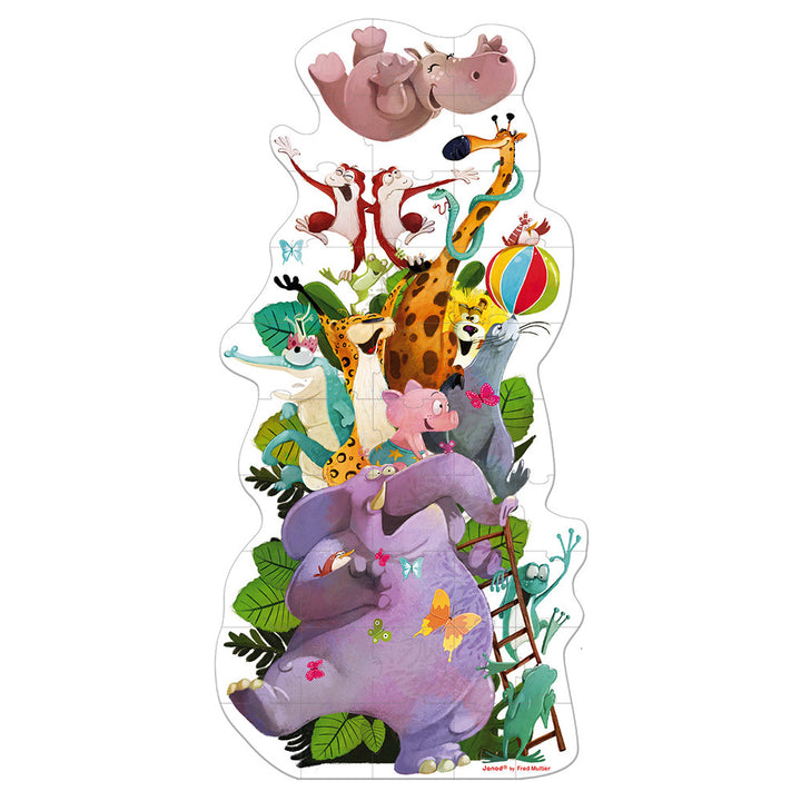 39 Piece Giant Hat Box Puzzle - Giant Animal Pyramid