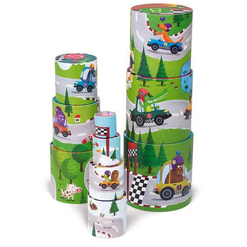 Magic Racing Round Stacking Blocks