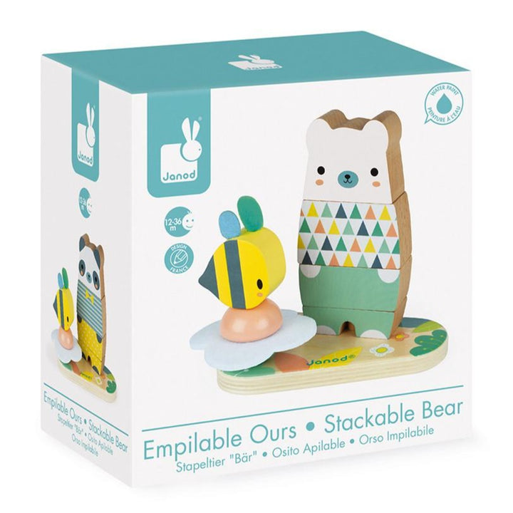 Janod Stacking Bear Learning Toy