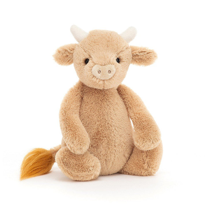 "Jellycat Bashful Cow - 7"" tall"