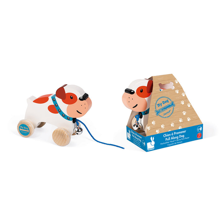 Janod Bulldog Pull Along Toy
