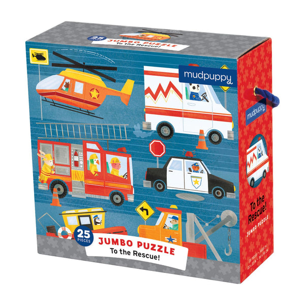 Rescue Vehicles Jumbo Floor Puzzle