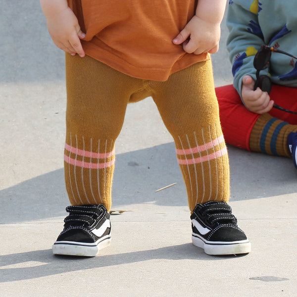 Kids Winter Weight Mustard Tights