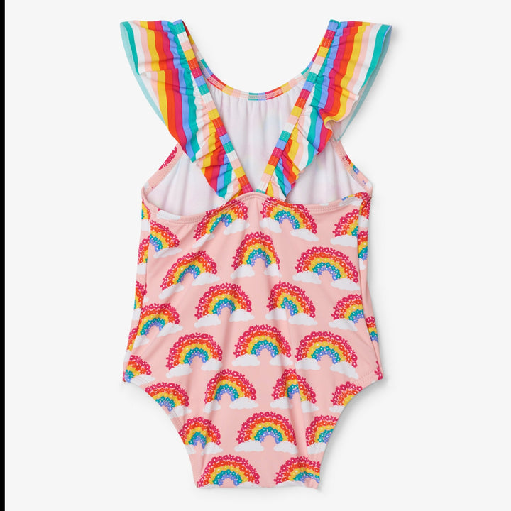 Hatley Rainbow Ruffle Swimsuit for baby - back