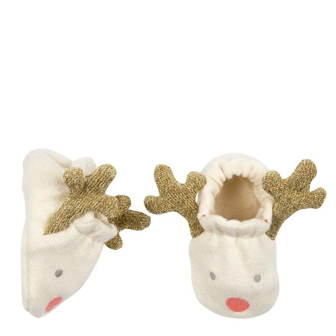 Infant Reindeer Booties - 0 to 6 months