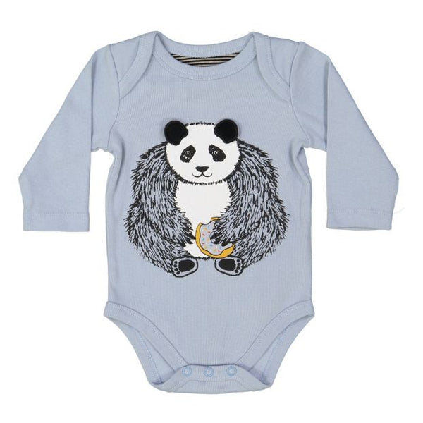 Milk on the Rocks Donut Panda Onesie (blue)
